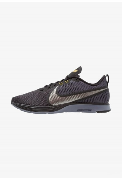 Nike ZOOM STRIKE - Chaussures de running neutres black/metallic pewter/gridiron/peat moss/light carbon liquidation