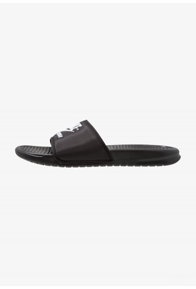Black Friday 2020 | Nike BENASSI JDI SE - Mules black/white liquidation