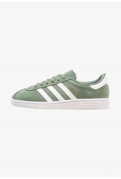 Adidas MÜNCHEN - Baskets basses trace green/footwear white/gold metallic pas cher