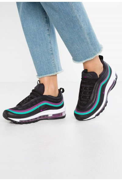 Nike NIKE AIR MAX 97 - Baskets basses black/bright grape/clear emerald liquidation