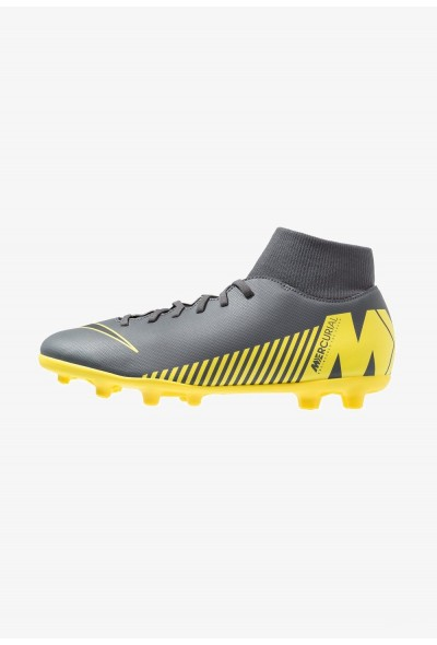 Nike MERCURIAL 6 CLUB MG - Chaussures de foot à crampons dark grey/black/opti yellow liquidation