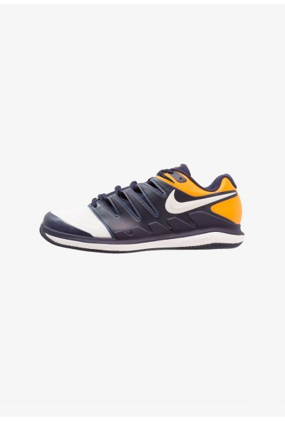 Black Friday 2020 | Nike AIR ZOOM VAPOR X CLAY - Chaussures de tennis sur terre battue blackened blue/phantom/orange peel liquidation