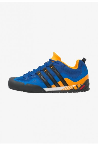 Adidas TERREX SWIFT SOLO - Chaussures de marche blue/core black/orange pas cher