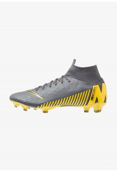 Nike MERCURIAL 6 PRO FG - Chaussures de foot à crampons dark grey/black/opti yellow liquidation