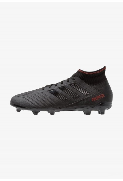 Adidas PREDATOR 19.3 FG - Chaussures de foot à crampons core black/active red pas cher