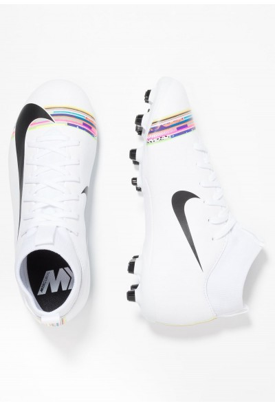 Nike MERCURIAL 6 ACADEMY GS FG/MG - Chaussures de foot à crampons - white/black white/black-pure platinum liquidation