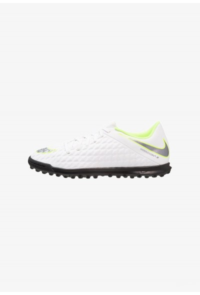 Nike PHANTOMX 3 CLUB TF - Chaussures de foot multicrampons white/chrome/volt liquidation