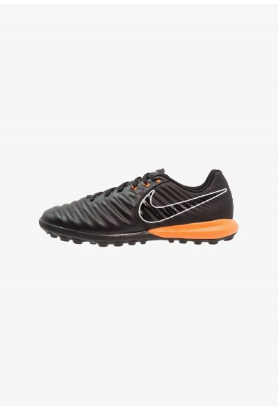 Nike TIEMPO LUNAR LEGENDX 7 PRO TF - Chaussures de foot multicrampons black/total orange liquidation