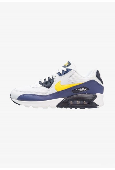 Nike AIR MAX 90 ESSENTIAL - Baskets basses white/tour yellow/blue recall liquidation
