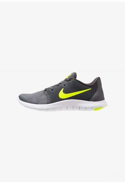 Nike FLEX CONTACT 2 - Chaussures de running compétition anthracite/volt/wolf grey/dark grey/black/white liquidation