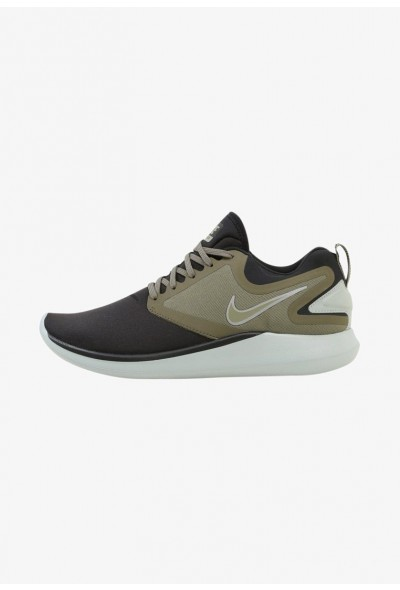 Nike LUNARSOLO - Chaussures de running neutres black/medium olive/light pumice/volt  liquidation