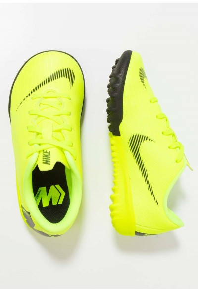 Nike MERCURIAL VAPORX 12 ACADEMY TF - Chaussures de foot multicrampons volt/black liquidation