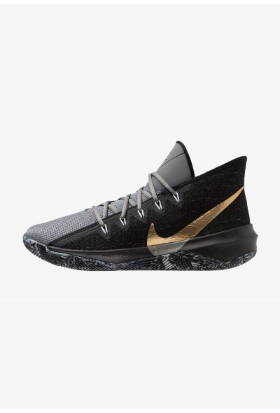 Nike ZOOM EVIDENCE III - Chaussures de basket black/metallic gold/cool grey/white liquidation