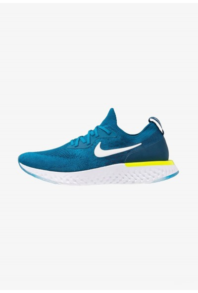 Black Friday 2020 | Nike EPIC REACT FLYKNIT - Chaussures de running neutres green abyss/white/blue force/volt liquidation