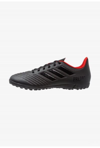 Adidas PREDATOR 19.4 TF - Chaussures de foot multicrampons core black/active red pas cher