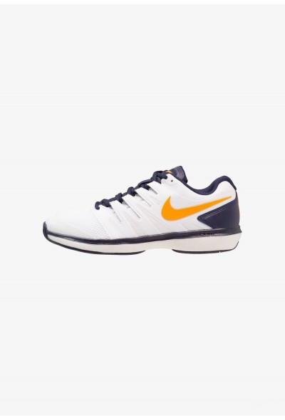 Nike AIR ZOOM PRESTIGE HC - Baskets tout terrain white/orange peel/blackened blue/phantom liquidation