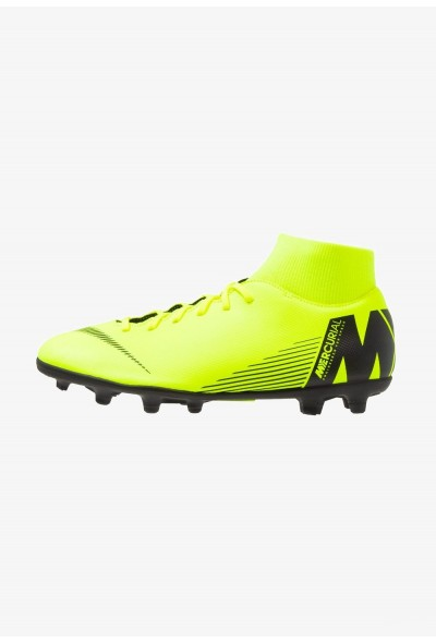 Black Friday 2019 | Nike MERCURIAL 6 CLUB MG - Chaussures de foot à crampons volt/black liquidation
