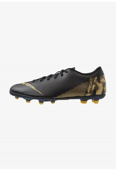 Nike MERCURIAL VAPOR 12 CLUB MG - Chaussures de foot à crampons black/metallic vivid gold liquidation