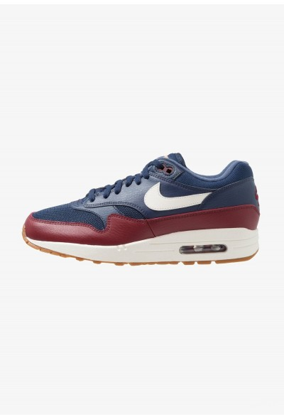 Nike AIR MAX 1 - Baskets basses navy/sail/team red/medium brown/tan liquidation