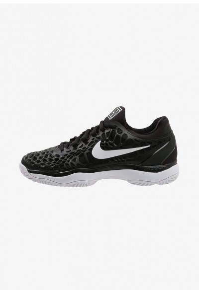 Nike AIR ZOOM CAGE 3 HC - Chaussures de tennis sur terre battue black/white/anthracite liquidation