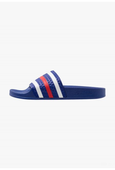 Black Friday 2019 | Adidas ADILETTE - Sandales de bain power blue/footwear white/scarlet pas cher