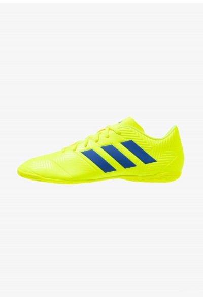 Adidas NEMEZIZ 18.4 IN - Chaussures de foot en salle solar yellow/football blue/active red pas cher
