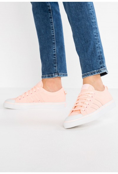 Adidas NIZZA - Baskets basses clear orange/crystal white pas cher
