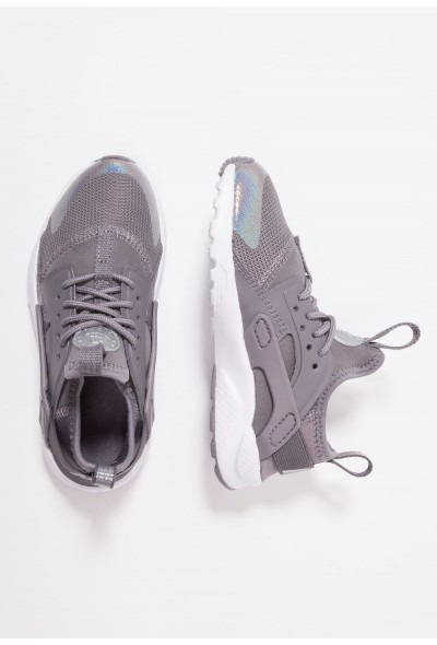 Black Friday 2020 | Nike HUARACHE RUN ULTRA - Baskets basses gunsmoke/metallic silver/white liquidation