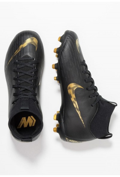 Nike MERCURIAL 6 ACADEMY MG - Chaussures de foot à crampons black/metallic vivid gold liquidation