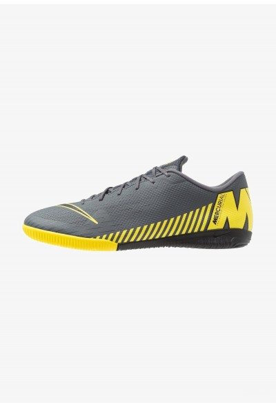 Nike MERCURIAL VAPORX 12 ACADEMY IC - Chaussures de foot en salle dark grey/black/opti yellow liquidation