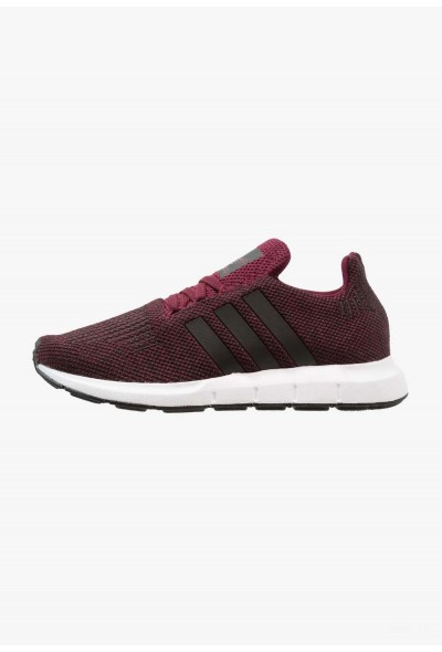 Adidas SWIFT RUN - Baskets basses maroon/core black/footwear white pas cher