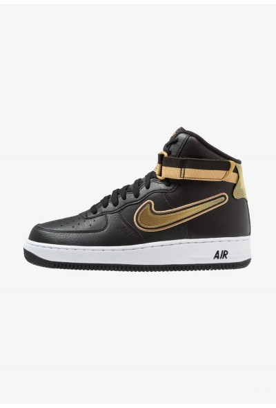 Nike AIR FORCE 1 '07 LV8 SPORT - Baskets montantes black/metallic gold/white liquidation