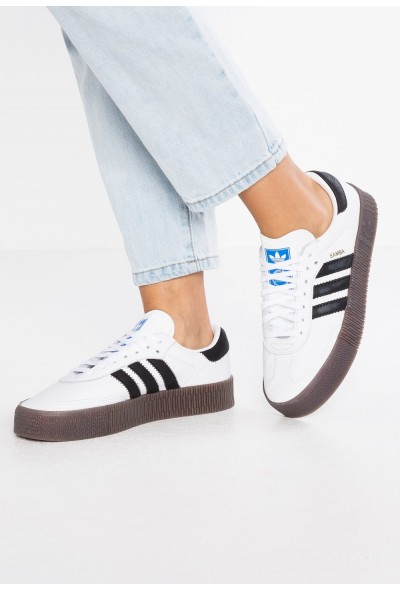 Adidas SAMBAROSE - Baskets basses footwear white/core black pas cher