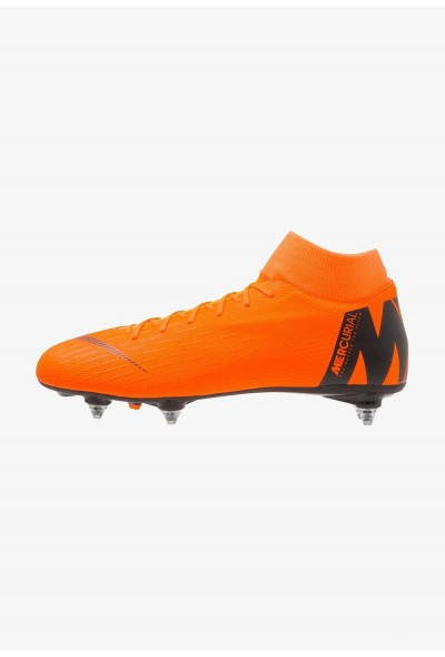 Nike MERCURIAL 6 ACADEMY SGPRO - Chaussures de foot à lamelles total orange/black/volt liquidation