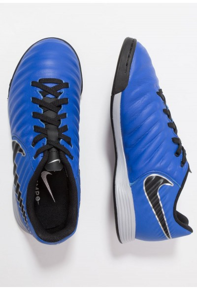 Nike TIEMPO LEGENDX 7 ACADEMY IC - Chaussures de foot en salle racer blue/black/metallic silver liquidation