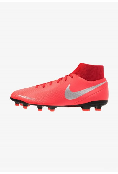 Nike PHANTOM OBRA 3 CLUB DF MG - Chaussures de foot à crampons bright crimson/metallic silver/university red/black liquidation