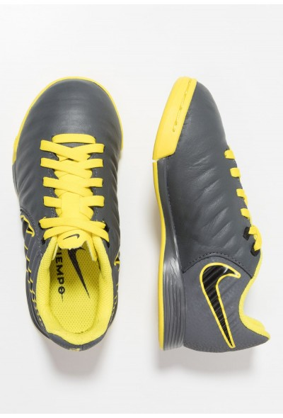 Nike TIEMPO LEGENDX 7 ACADEMY IC - Chaussures de foot en salle dark grey/black/opti yellow liquidation