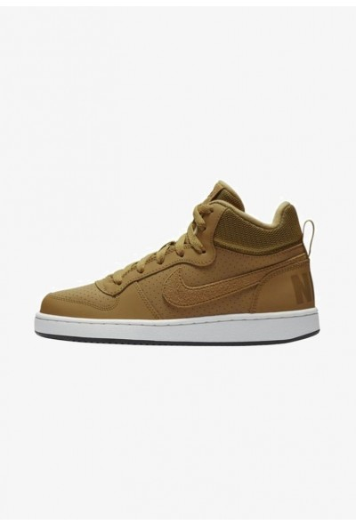 Nike COURT BOROUGH MID - Baskets montantes - light brown/ off light brown/ off-white/ black liquidation
