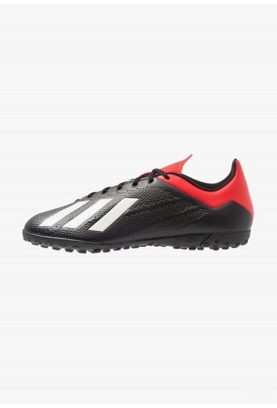 Adidas X 18.4 TF - Chaussures de foot multicrampons core black/offwhite/active red pas cher