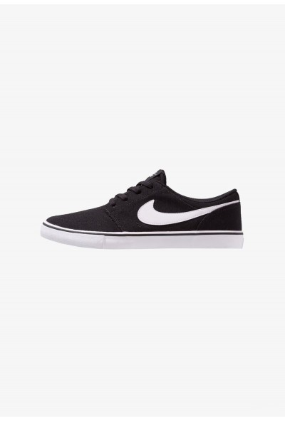Nike PORTMORE II SS CNVS - Baskets basses black/white liquidation