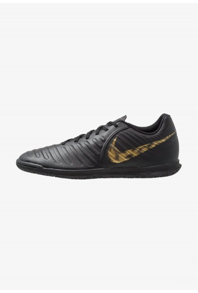 Nike TIEMPO LEGENDX 7 CLUB IC - Chaussures de foot en salle black/metallic vivid gold liquidation