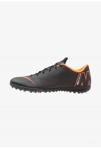 Black Friday 2020 | Nike MERCURIAL VAPORX 12 ACADEMY TF - Chaussures de foot multicrampons black/total orange/white liquidation