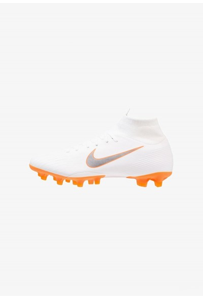Nike MERCURIAL 6 PRO AG PRO - Chaussures de foot à crampons white/chrome/total orange liquidation