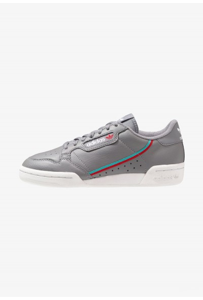 Adidas CONTINENTAL 80 - Baskets basses - grey three/hi grey three/hi-res aqua/scarlet  pas cher