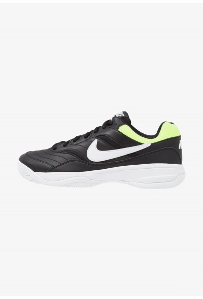 Black Friday 2019 | Nike COURT LITE - Baskets tout terrain black/white/volt glow liquidation
