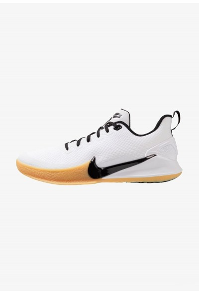 Nike MAMBA FOCUS - Chaussures de basket white/black/light brown liquidation