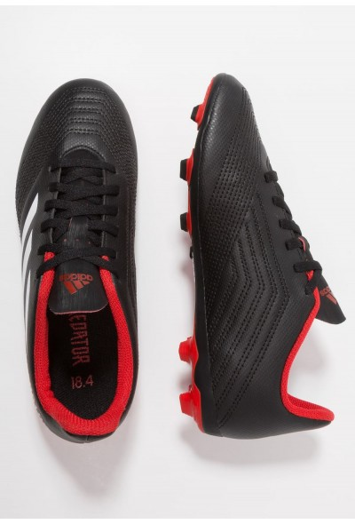 Adidas PREDATOR 18.4 FXG - Chaussures de foot à crampons core black/footwear white/red pas cher