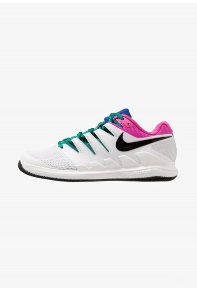 Nike AIR ZOOM VAPOR X HC - Baskets tout terrain white/black/platinum tint/laser fuchsia/indigo force liquidation