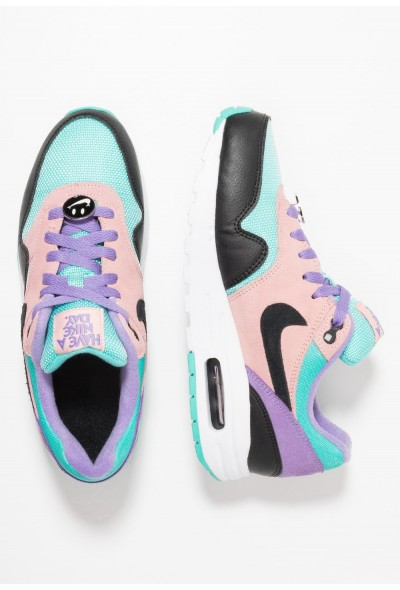 Nike AIR MAX 1 DAY  - Baskets basses black/white/space purple/bleached coral/hyper jade liquidation