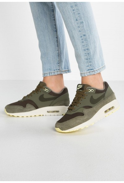 Nike AIR MAX 1 - Baskets basses sequoia/medium olive/luminous green/summit white liquidation